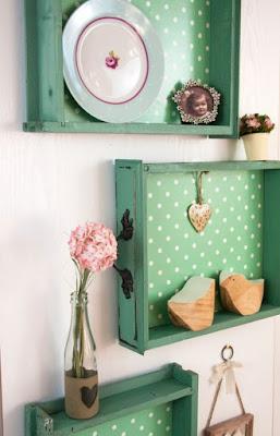 Tận dụng ngăn kéo cũ trang trí nội thất