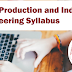 GATE Production and Industrial Engineering Syllabus 2020