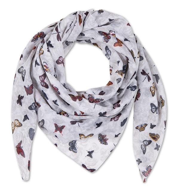 foulard con farfalle primavera