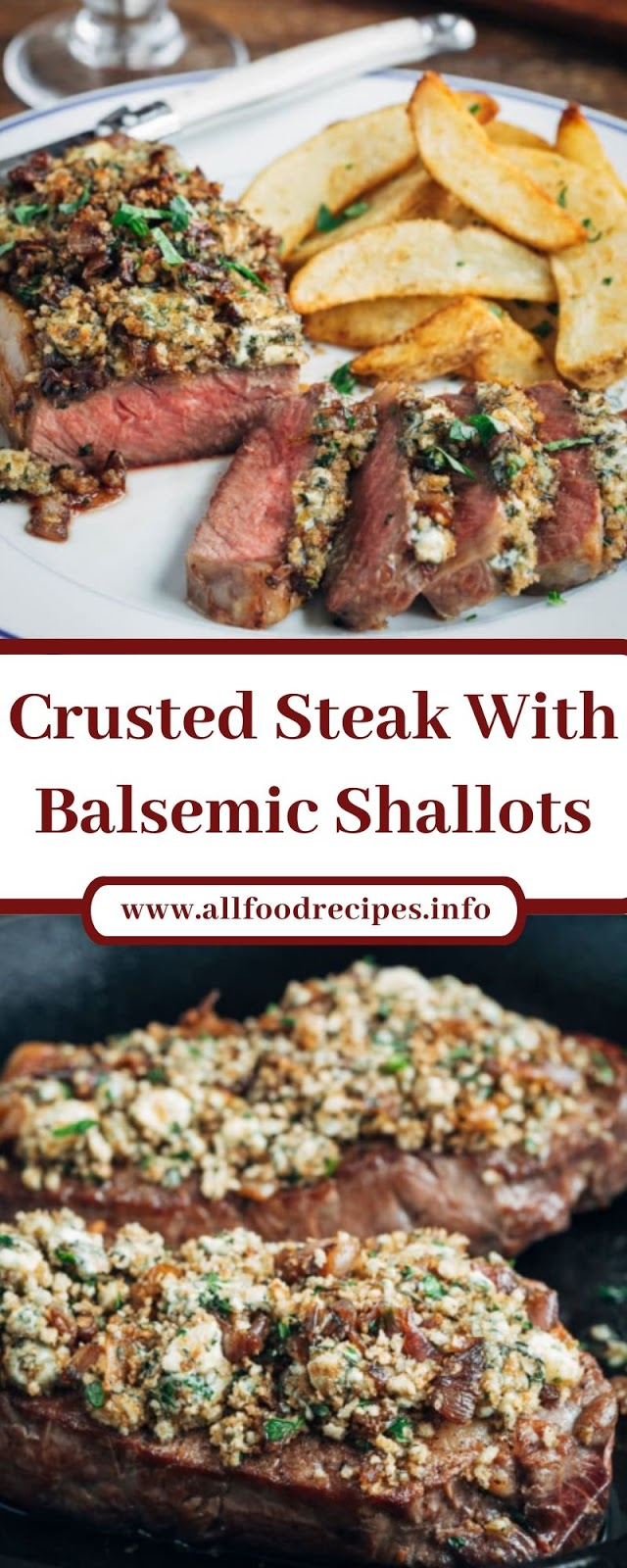 Crusted Steak With Balsemic Shallots