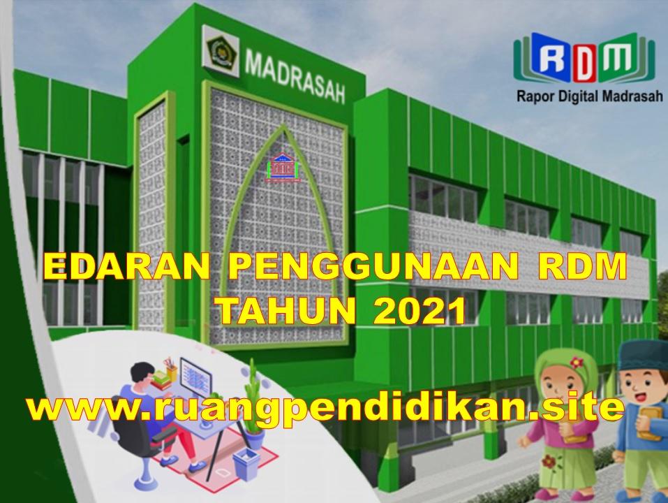 Edaran Aplikasi RDM Tahun 2021