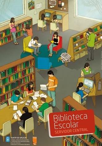 Dibujo por el Día de la Biblioteca Escolar a colores