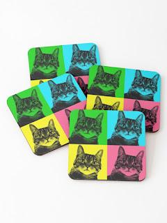 tabby cat coasters