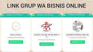 Grup whatsapp bisnis online indonesia