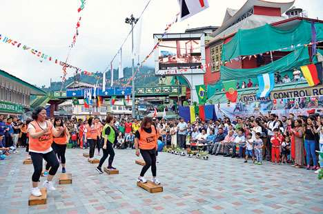 musical programme ahead of the World Cup in Gangtok