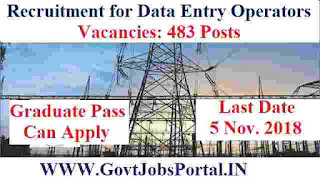 Recruitment for Data Entry Operators