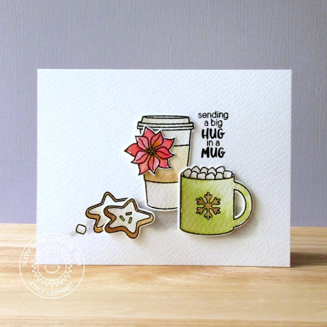 Sunny Studio Stamps: Mug Hugs Christmas Card by Emily Leiphart