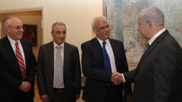 Saeb Erekat con Netanyahu