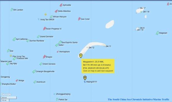 Xác minh tàu hải cảnh Trung Quốc di chuyển vào vùng biển Việt Nam