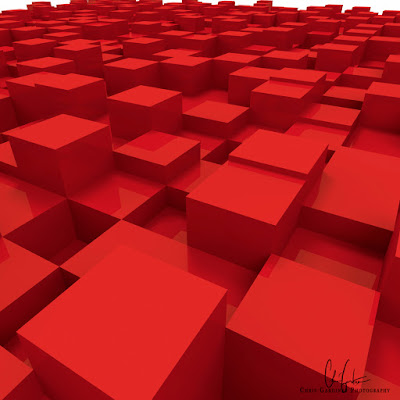 made with blender 3d software an abstract background of multi-level extruded cubes