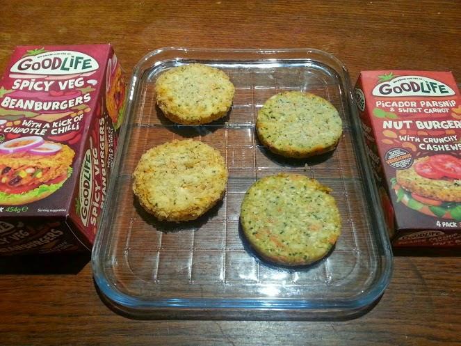 Goodlife frozen vegetarian burgers range