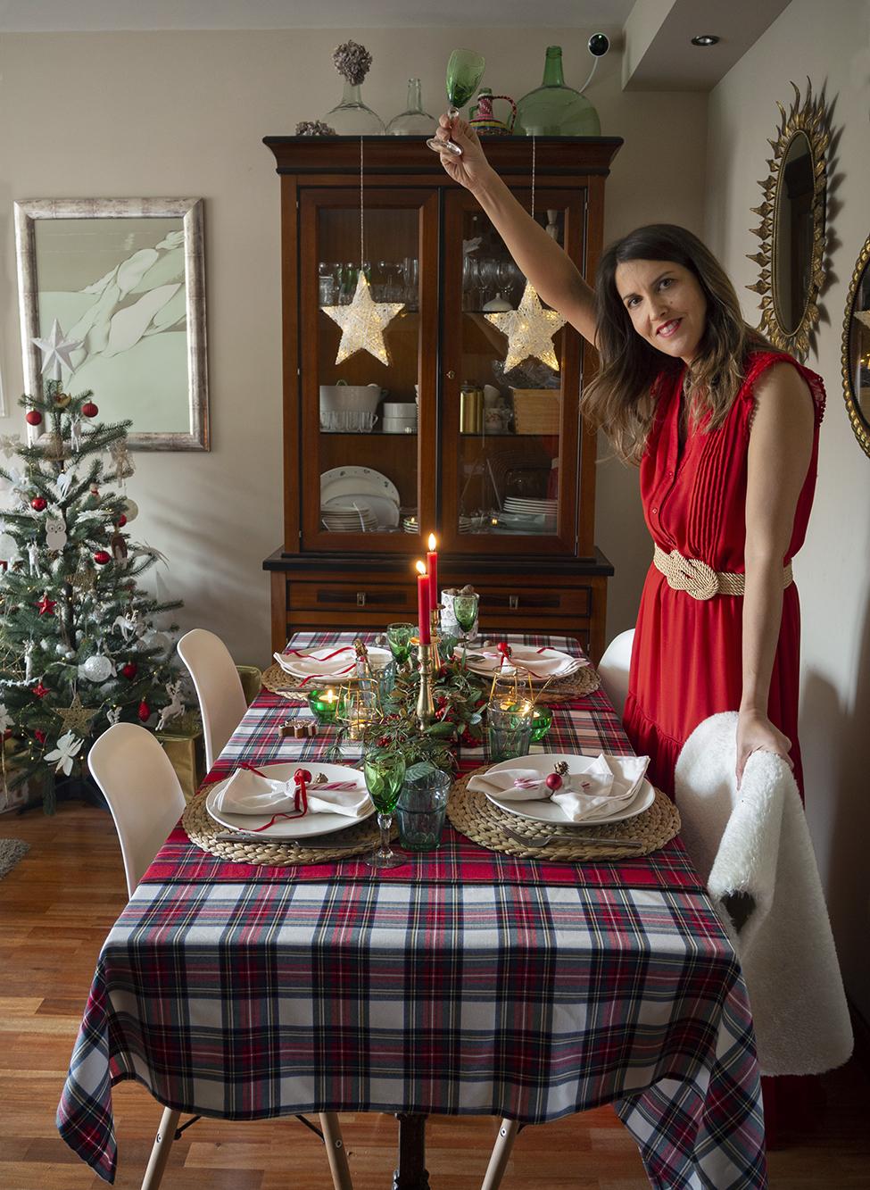 Nuestra mesa navideña en cuadros escoceses21