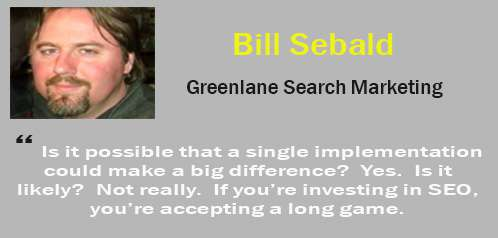 bill sebald - tips SEO