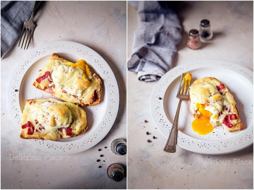 Tosty z szynką dojrzewającą i jajkiem w koszulce