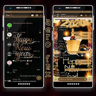 Happy New Year Dark Theme For YOWhatsApp & Aero WhatsApp By Ave fénix