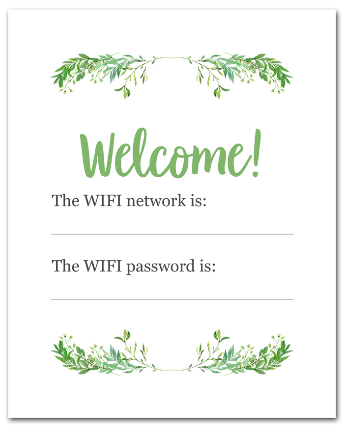Wifi Signs to Print
