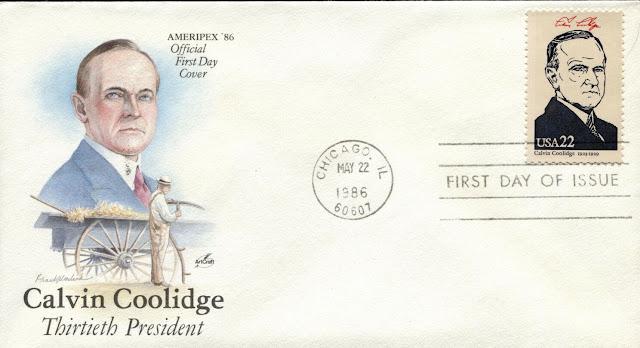 1986 US President Coolidge Artcraft Ameripex