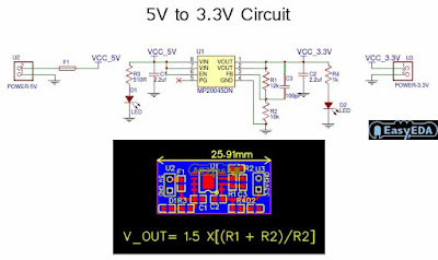 Circuit Schematic Module 5V to 3.3V Converter