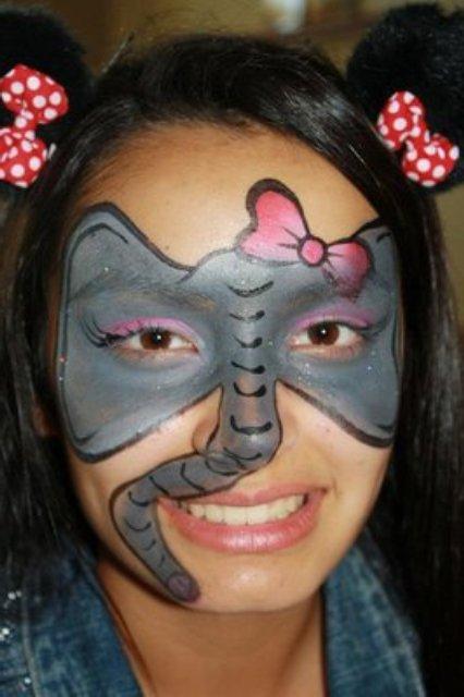 Elephant Face Paint Images