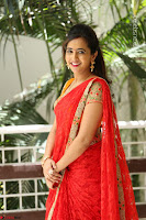 Lasya Cute Beauty in Saree Backless Choli at her Interview ~  Exclusive 098.JPG
