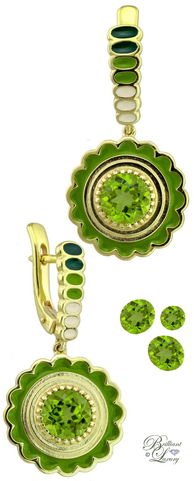Drukker Designs Peridot Earrings #jewelry #pantone #brilliantluxury