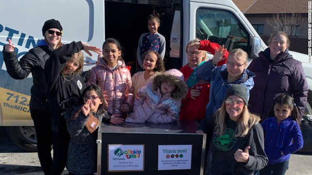 A troop made up of homeless girls is on a mission to sell Girl Scout cookies in all 50 states