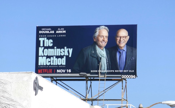 Kominsky Method series launch billboard