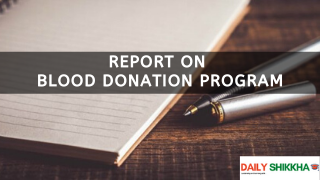 Report on Blood Donation Program