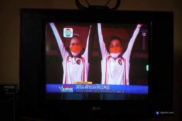 Gambar TV Digital Indosiar menggunakan stb dvb-t2