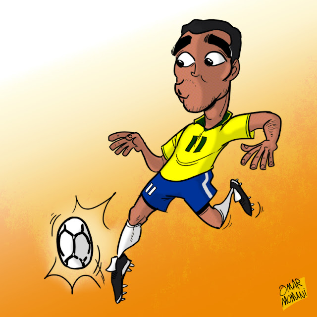 Romario cartoon