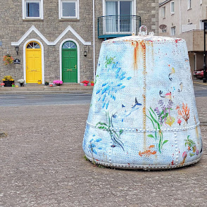 Things to see in Dungarvan: Decorated buoys