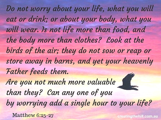 Do not worry about your life ~ Matthew 6:25-27