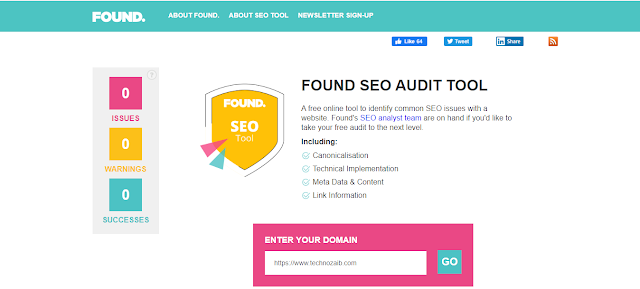 This SEO tool is very easy to use for website marketers to identify the common SEO