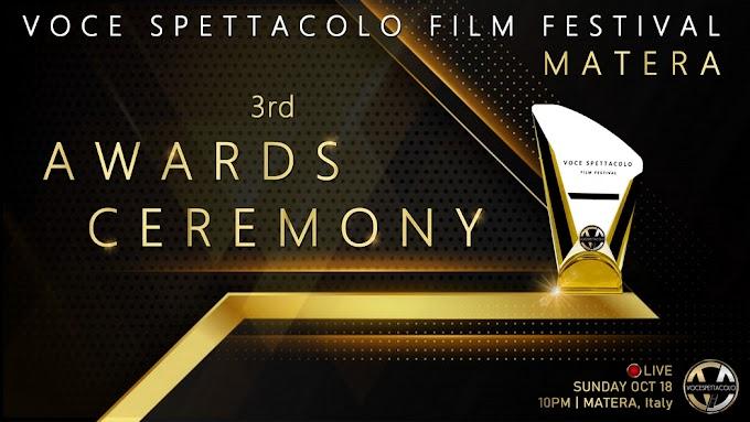 3a edizione del Voce Spettacolo Film Festival di Matera, i premiati della serata conclusiva
