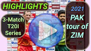 Zimbabwe vs Pakistan T20I Series 2021