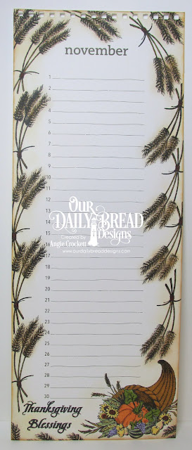 ODBD Give Thanks, ODBD Wheat Mini Set, Calendar Page Designer Angie Crockett