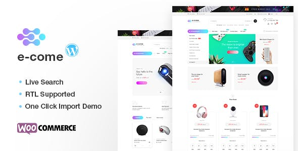Download Ecome v1.5.3 – Electronics Store WooCommerce Theme