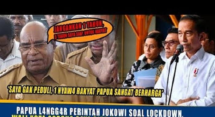Kini Walikota di Papua Tantang Presiden: Silakan Anda Mau Bilang Apa, Kami Tetap Lockdown, Saya Siap di Penjara!