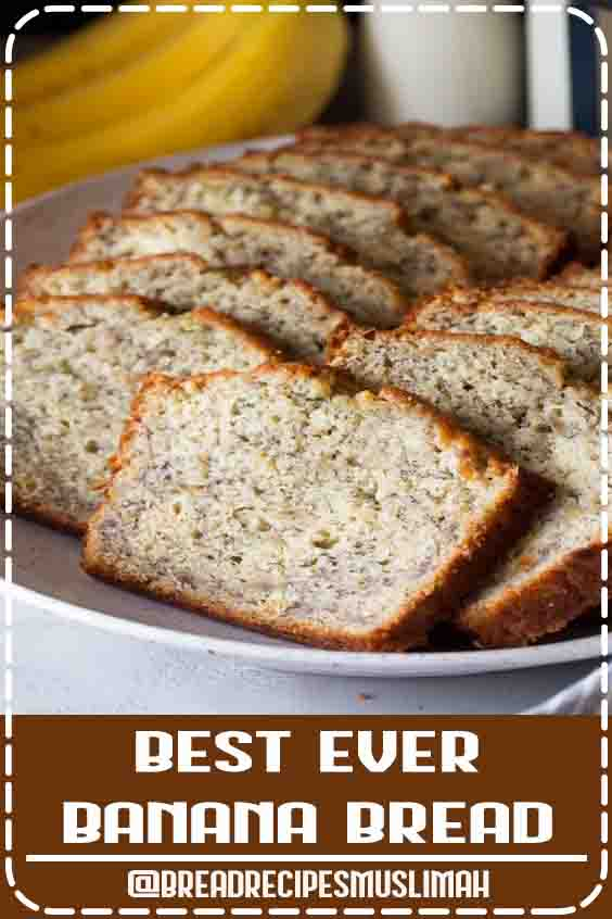 The only banana bread recipe you'll ever need! It's perfectly buttery and has so much banana flavor, it's perfectly soft and fluffy, it has incredibly moist and it's so easy to make. A must try recipe! #bananabread #banana #recipe #food #diy #homemade #bread #easy #dessert #breakfast  #Bread #Recipes #easy #dessert