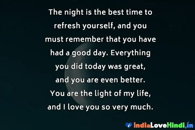 good night status for her that touches the heart