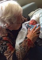 Diane Marquart Moore with her great granddaughter Kate Romero
