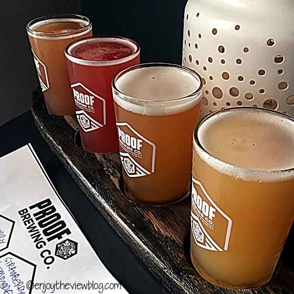 Love the beer at Proof Brewing in Tallahassee is delicious! #adventuresofgusandkim #travelover50 #wheretodrinkinTallahassee #enjoytheviewblogtravel #craftbeer
