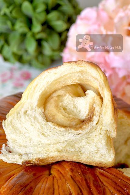 super cottony soft golden wool roll bread brown sugar swirl