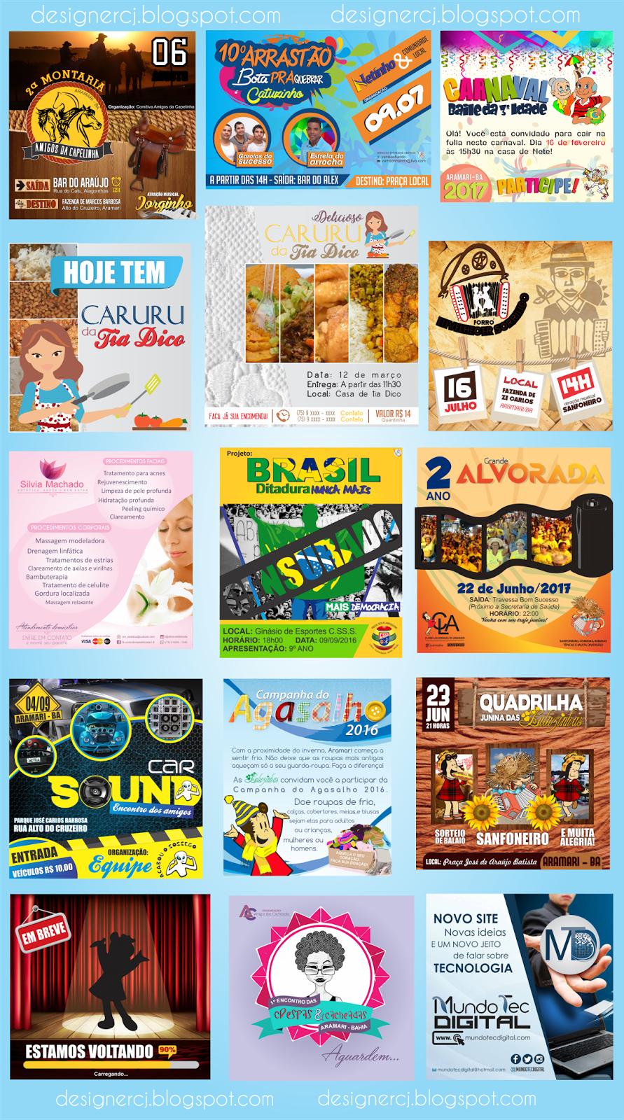 Panfletos, Cartazes e materiais publicitários
