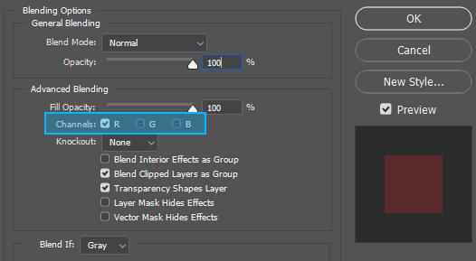 Cara membuat efek foto glitch berwarna merah di Photoshop
