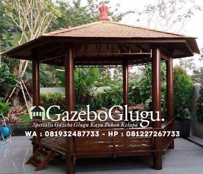 Gazebo Kayu Glugu Kelapa