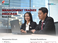 Rekrutmen Management Trainee PT RNI (Persero)