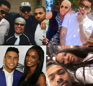 Picture collection of Albert Brown IV with his family
