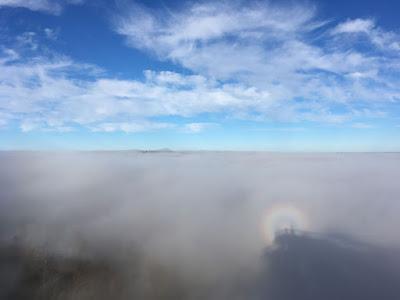 Widmo Brockenu na wieży widokowej Krynica-Zdrój