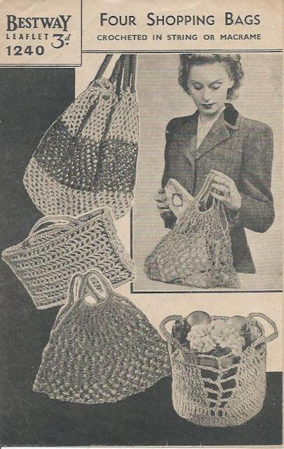 Sacolas de compras dos anos 1940s